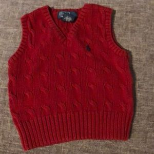 Polo red vest